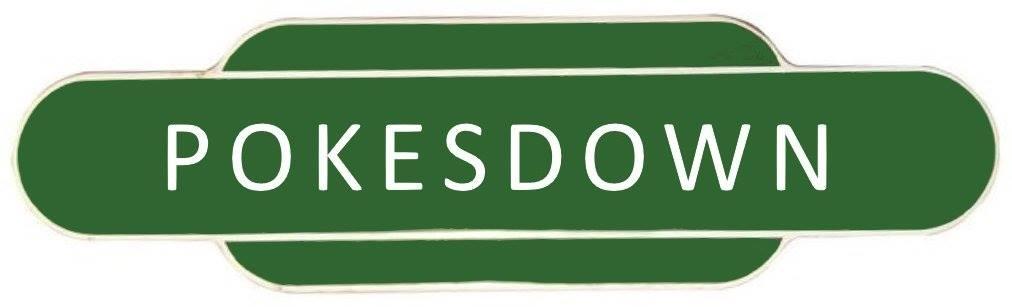 1930s style Pokesdown Railway Station sign