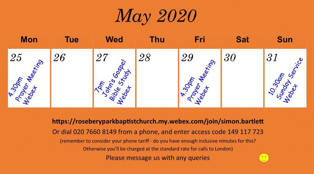 diary 25 May 2020