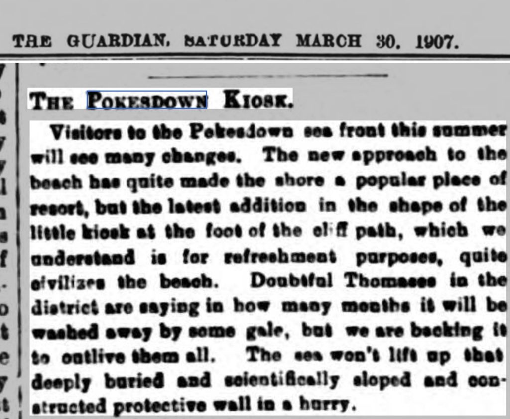 Bournemouth Guardian article about Pokesdown beach kiosk
