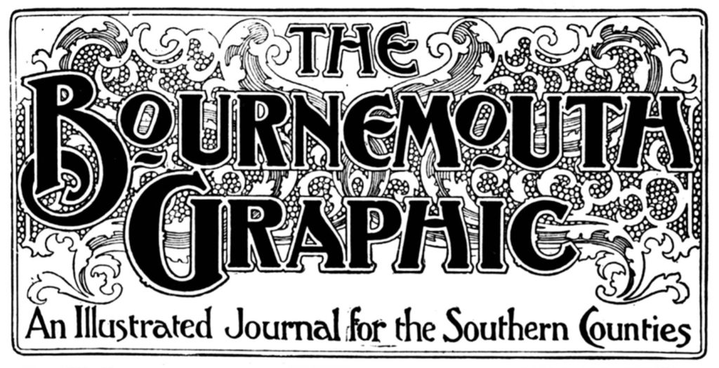 title piece or masthead of the newspaper The Bournemouth Graphic