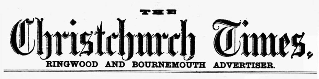 christchurch times newspaper title piece masthead
