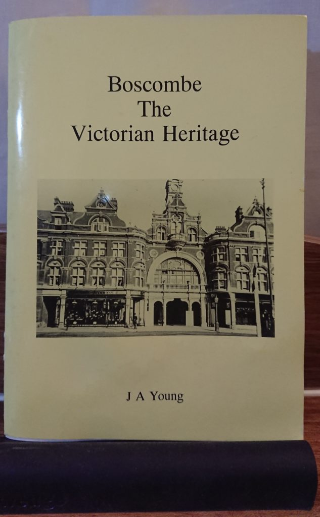 front cover of Boscombe the Victorian Heritage booklet, black and white photo of the Royal Arcade
