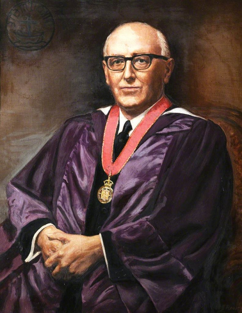 oil painting of Ernest Payne, General Secretary of the Baptist Union from 1951 to 1967