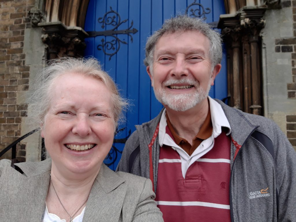colour photo of Rev Alison Overton and Grenville Overton