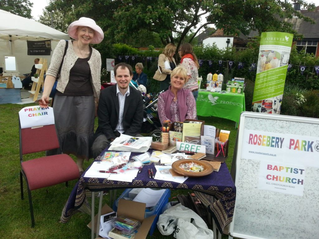 colour photo of Rev Alison and youth worker Rick Cole on Pokesdown Green