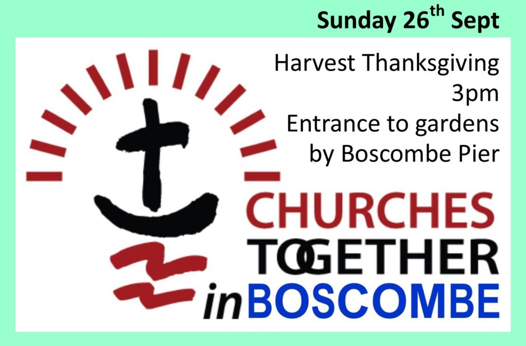 advert for churches together in boscombe meeting on Sunday 26th September 2021